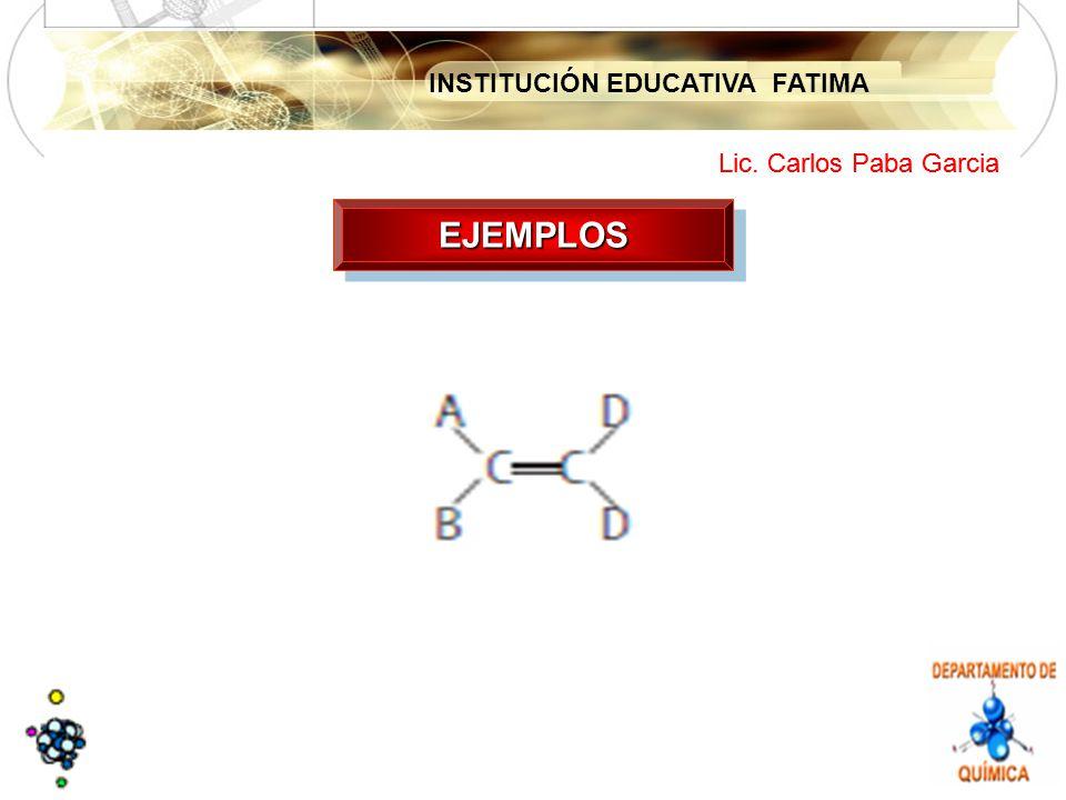INSTITUCIÓN EDUCATIVA FATIMA Lic. Carlos Paba Garcia EJEMPLOSEJEMPLOS