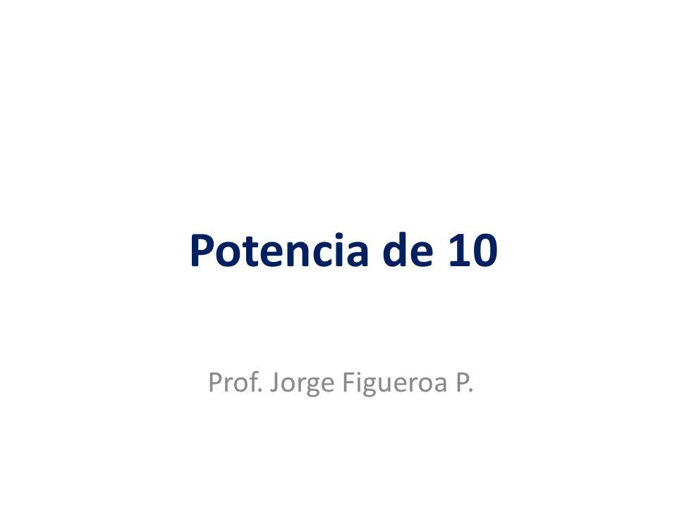 Potencia de 10 Prof. Jorge Figueroa P.