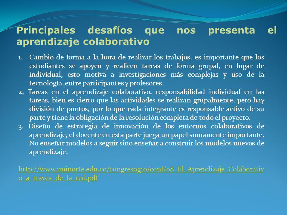 El aprendizaje colaborativo es un sistema de interacciones cuidadosamente diseñado que organiza e induce la influencia recíproca entre los integrantes de un equipo.
