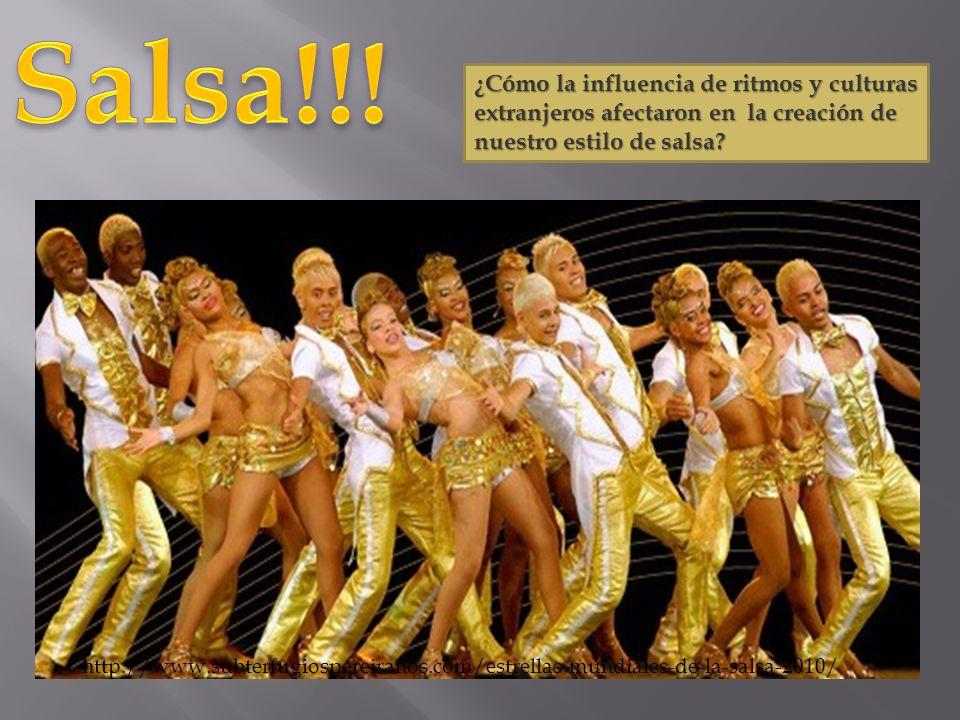 ¿Cómo la influencia de ritmos y culturas extranjeros afectaron en la creación de nuestro estilo de salsa? http://www.subterfugiospereiranos.com/estrel