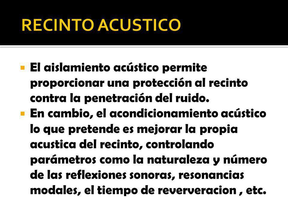 El aislamiento acústico permite proporcionar una protección al recinto contra la penetración del ruido. En cambio, el acondicionamiento acústico lo qu