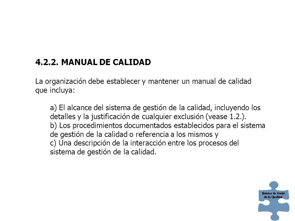 Nota 1 Cuando aparece el termino procedimiento documentado dentro de esta norma internacional, significa que el procedimiento sea establecido, documentado, implementado y mantenido.
