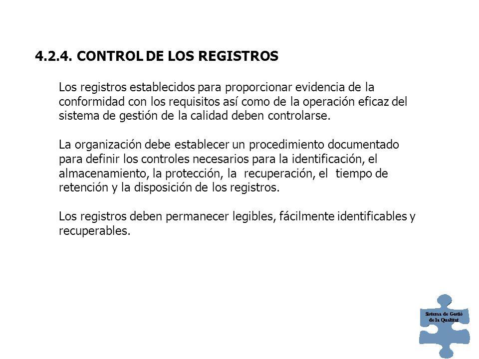 Debe establecerse un procedimiento documentado que defina los controles necesarios para: a)Aprobar los documentos en cuanto a su adecuación antes de s