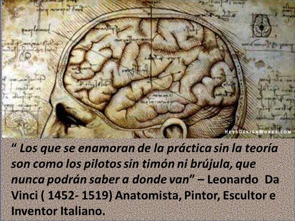 Los que se enamoran de la práctica sin la teoría son como los pilotos sin timón ni brújula, que nunca podrán saber a donde van – Leonardo Da Vinci ( 1