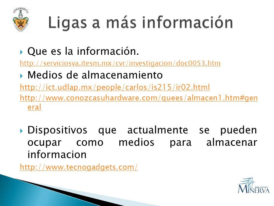 Que es la información.
