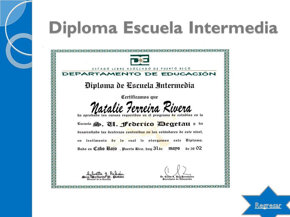 Diploma Escuela Intermedia