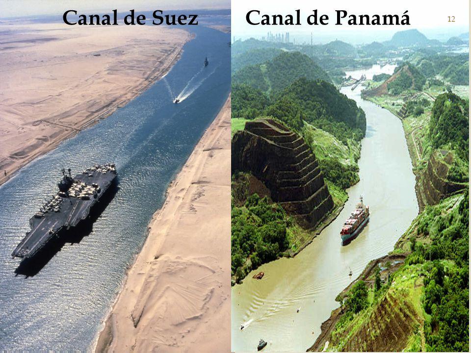 El canal de Suez es una vía artificial de navegación que une el mar Mediterráneo con el mar Rojo, entre África y Asia, a través del istmo de Suez.