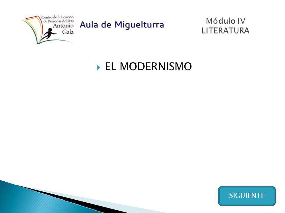 Autores más importantes del modernismo hispanoamericano VER RESPUESTA