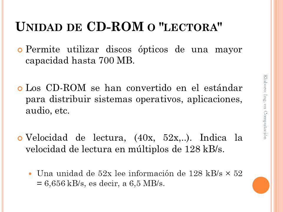 U NIDAD DE CD-ROM O