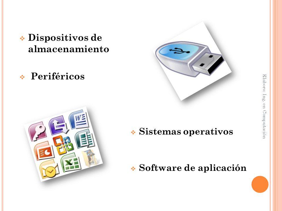 Elaboro: Ing. en Computación Almacenamiento