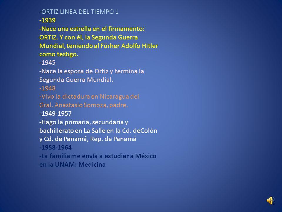 -ORTIZ LINEA DEL TIEMPO 1 -1939 -Nace una estrella en el firmamento: ORTIZ.