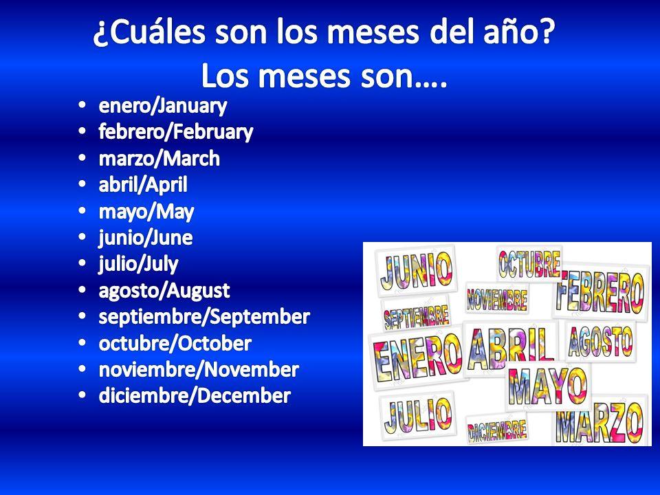 lunes/Monday martes/Tuesday miércoles/Wednesday jueves/Thursday viernes/Friday sábado/Saturday domingo/Sunday