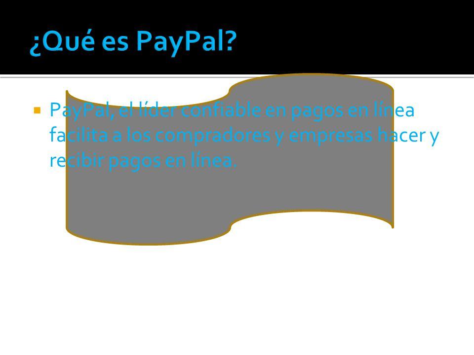 PayPal, el líder confiable en pagos en línea facilita a los compradores y empresas hacer y recibir pagos en línea.