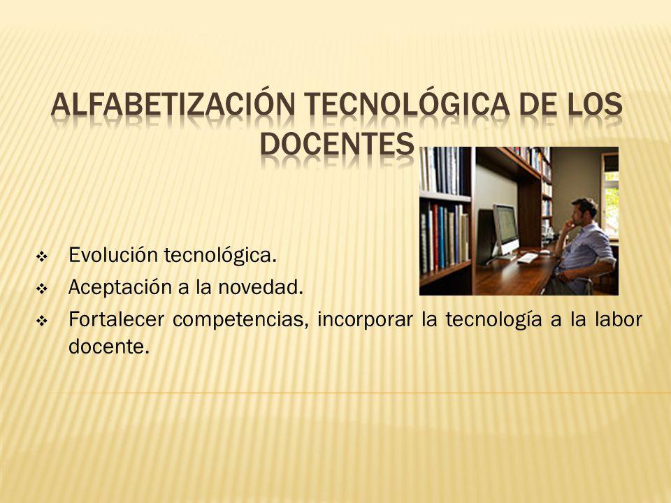 Evolución tecnológica. Aceptación a la novedad.
