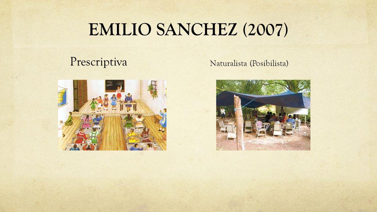 EMILIO SANCHEZ (2007) Naturalista (Posibilista) Prescriptiva