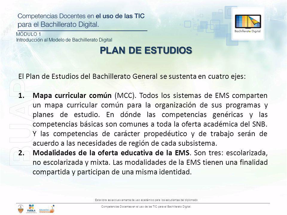 MÓDULO 1 Introducción al Modelo de Bachillerato Digital Esta obra es exclusivamente de uso académico para los estudiantes del diplomado Competencias D