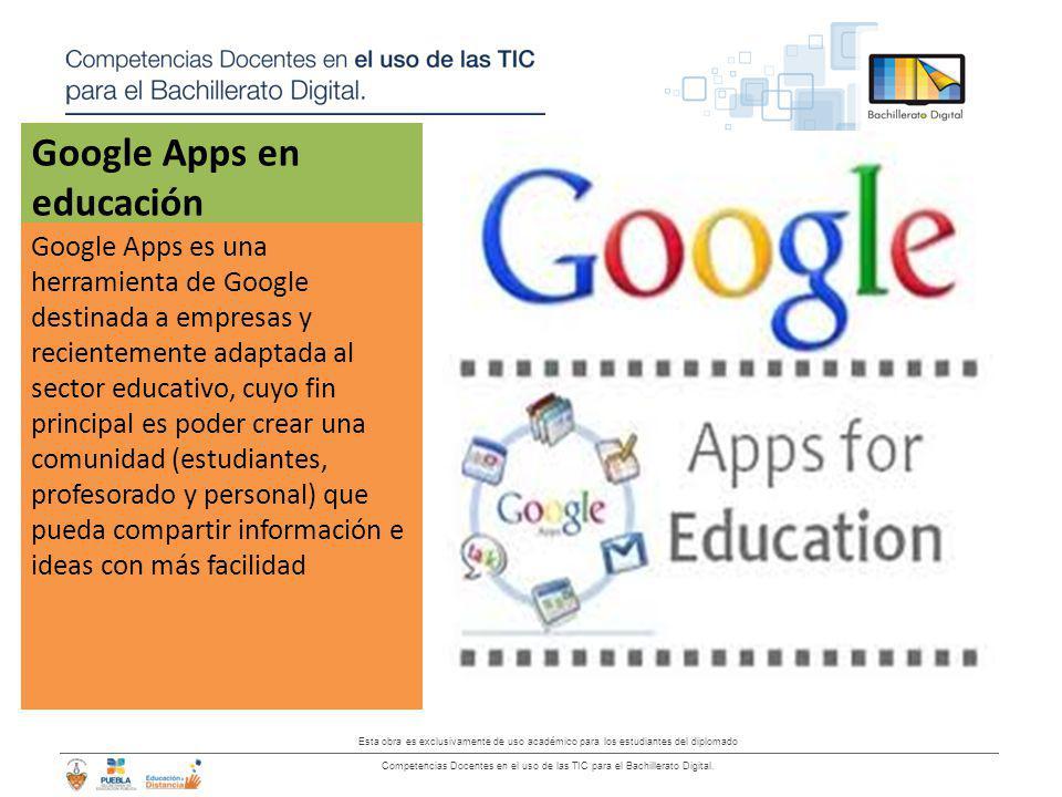 Esta obra es exclusivamente de uso académico para los estudiantes del diplomado Competencias Docentes en el uso de las TIC para el Bachillerato Digita