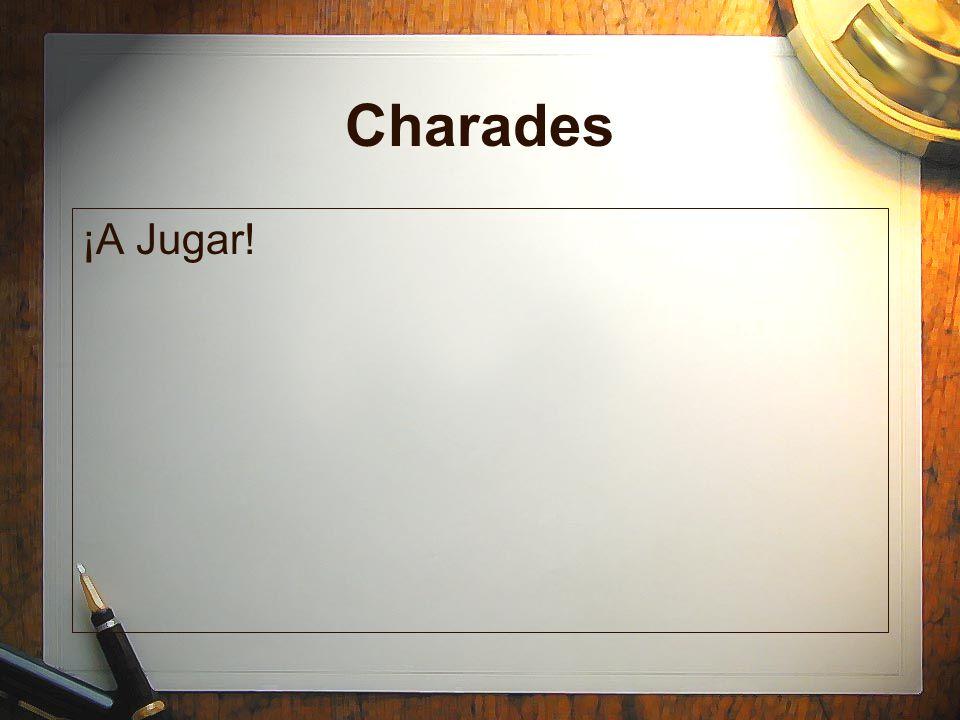 Charades ¡A Jugar!