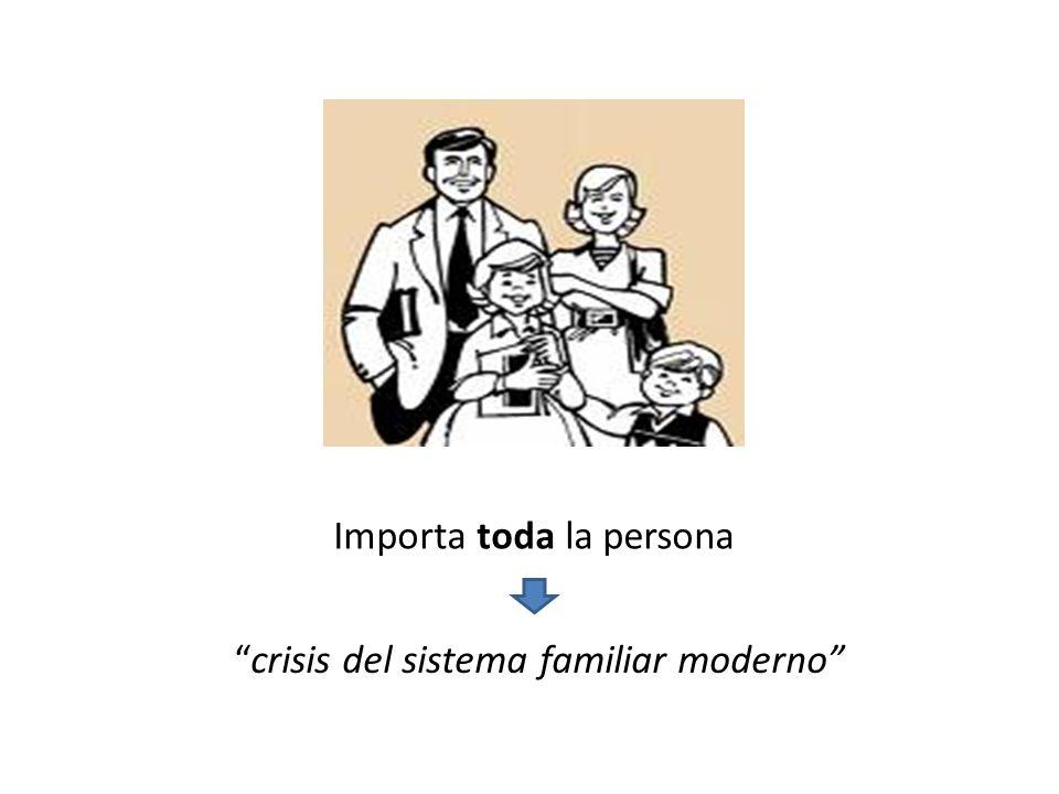 Importa toda la persona crisis del sistema familiar moderno