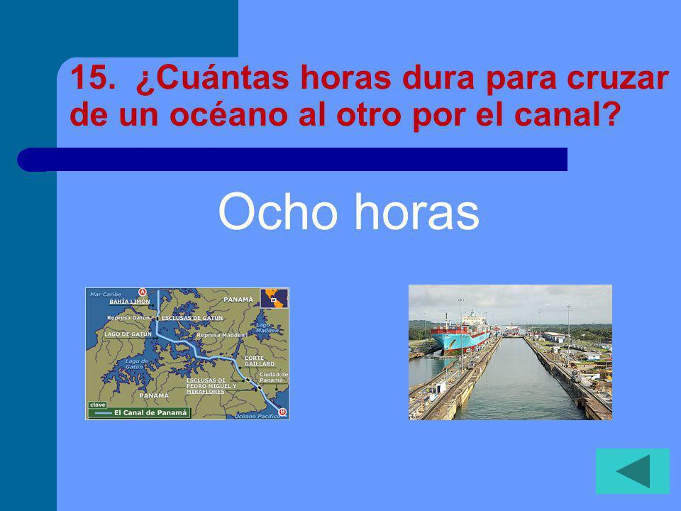 14. ¿Cuántas millas se extiende el canal? 43 millas