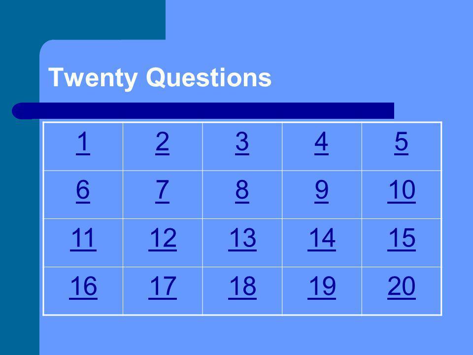 20 Preguntas Parabienes Capítulos 10, 11, y 12