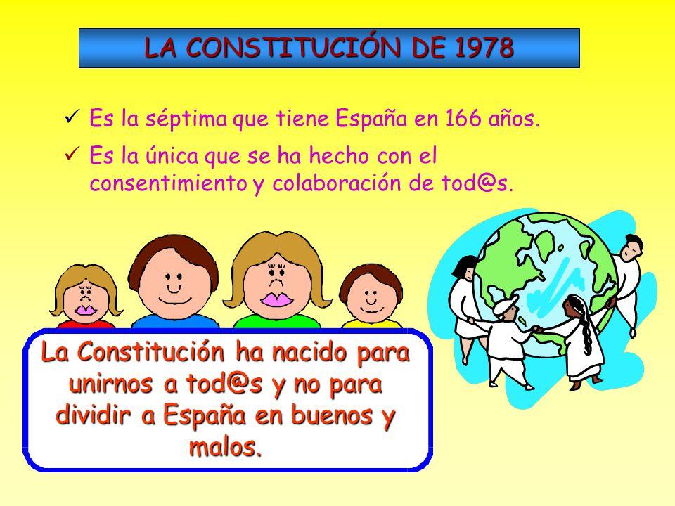 Espa ñ a es una naci ó n formada por muchos pueblos, gentes y problemas. En 1.978 se decidi ó crear un documento en el que se dice a tod@s l@s espa ñ