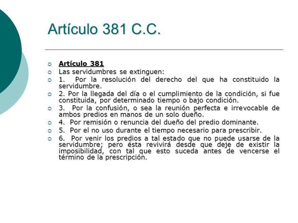 Artículo 381 C.C.