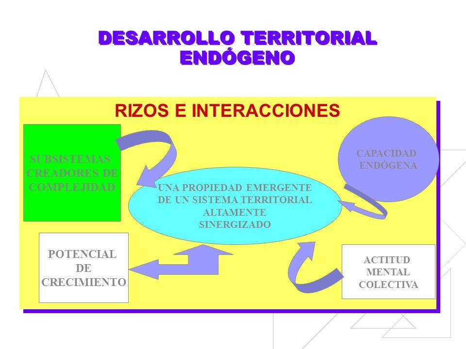 CRECIMIENTO TERRITORIAL EXOGENO (debido a carácter alienígeno de decisores) PROYECTO NACIONAL Y POLÍTICA TERRITORIAL POLITICA ECONOMICA NACIONAL DEMAN