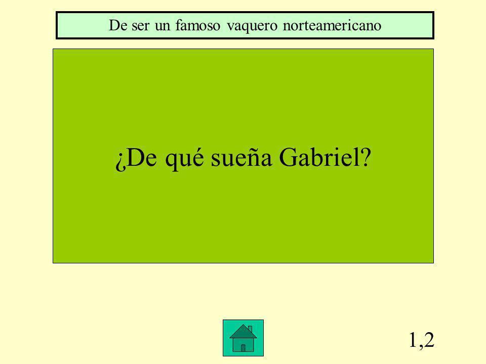 1,2 ¿De qué sueña Gabriel? De ser un famoso vaquero norteamericano