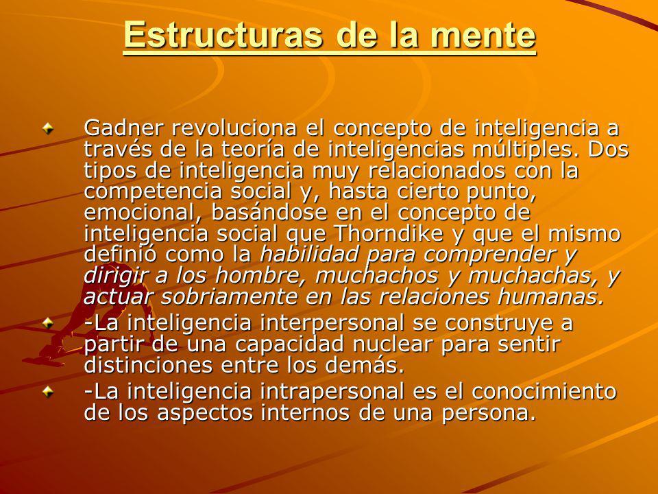 Estructuras de la mente Gadner revoluciona el concepto de inteligencia a través de la teoría de inteligencias múltiples. Dos tipos de inteligencia muy