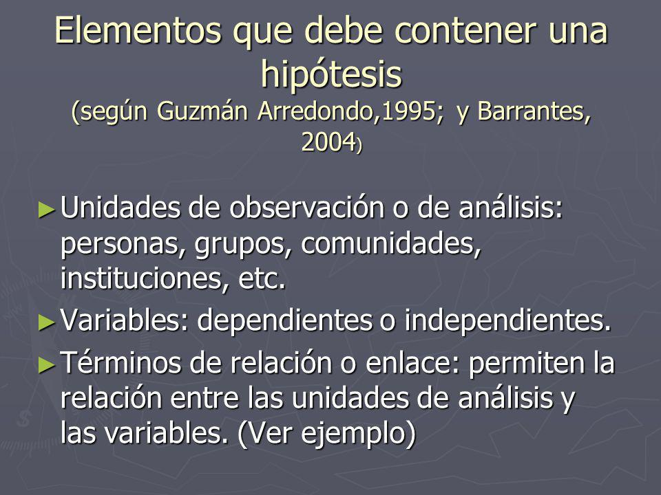 Hipótesis estadística (Cfr.Hernández et al.