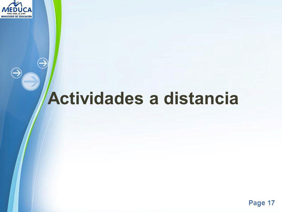 Powerpoint Templates Page 17 Actividades a distancia