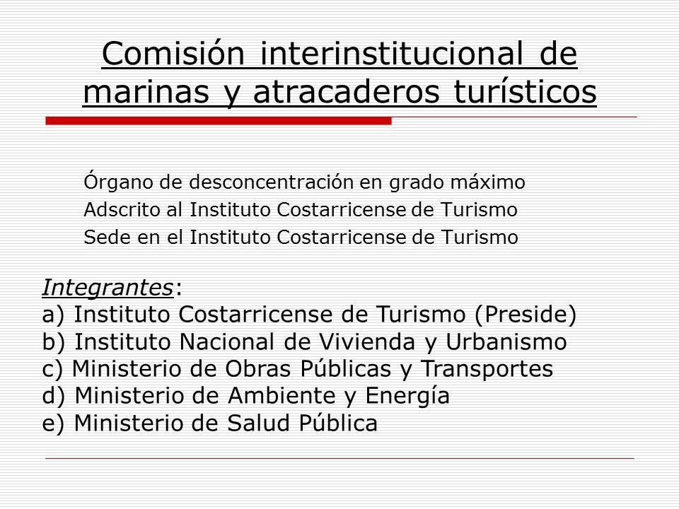 Comisión interinstitucional de marinas y atracaderos turísticos Órgano de desconcentración en grado máximo Adscrito al Instituto Costarricense de Turi