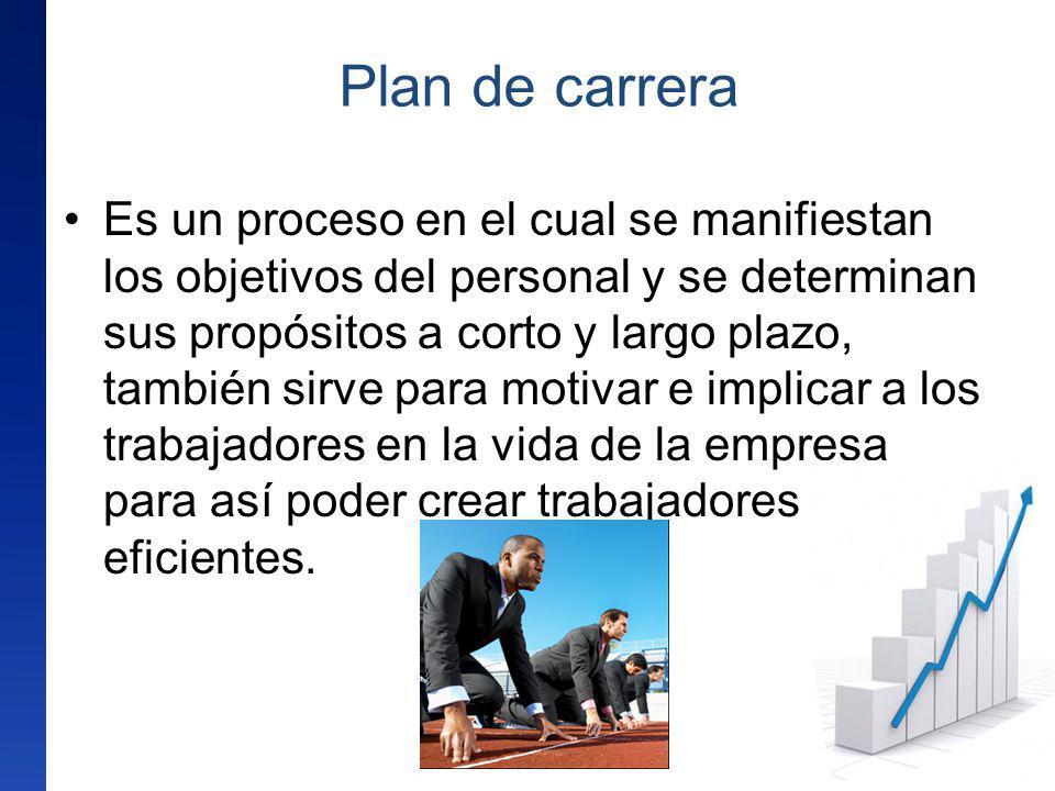 Es un proceso en el cual se manifiestan los objetivos del personal y se determinan sus propósitos a corto y largo plazo, también sirve para motivar e
