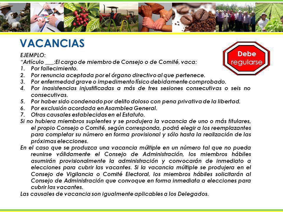 PRINCIPALES FUNCIONES DE LOS ÓRGANOS EN RESUMEN ASAMBLEA GENERAL - Aprueba y modifica el Estatuto.