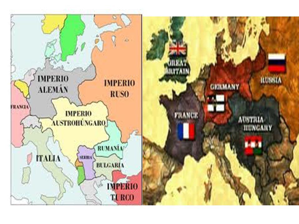 PAISES ACTORES DE LA GRAN GUERRA IMPERIO ALEMAN, IMPERIO TURCO OTOMANO, IMPERIO AUSTROHUNGARO Y BULGARIA EN ALIANZA ( TRIPLE ALIANZA) INGLATERRA, FRANCIA, IMPERIO RUSO, BELGICA, SERBIA Y ESTADOS UNIDOS ( TRIPLE ENTENTE)