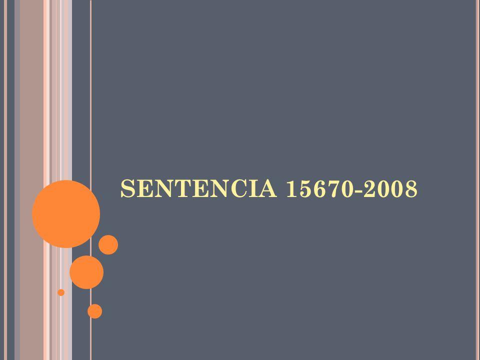 SENTENCIA 15670-2008