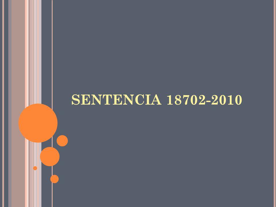 SENTENCIA 18702-2010