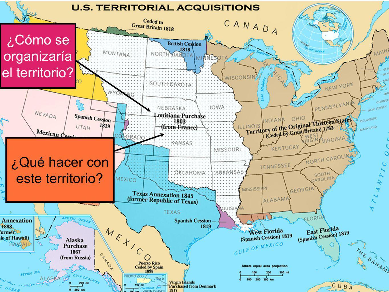 ¿Qué hacer con este territorio? ¿Cómo se organizaría el territorio?
