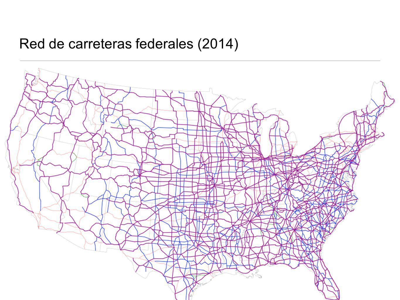 Red de carreteras federales (2014)