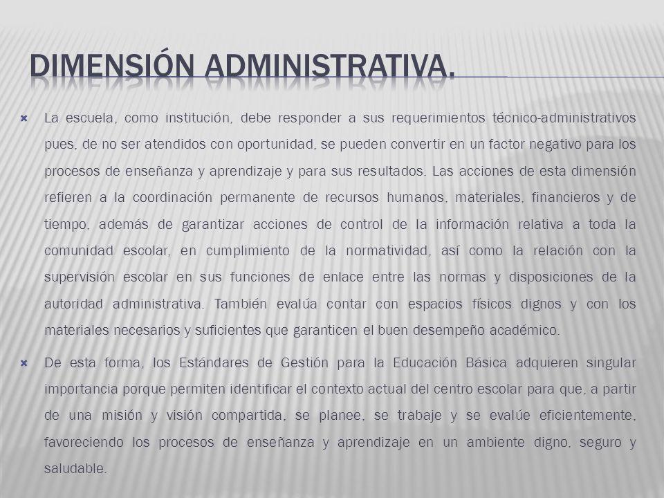 La escuela, como institución, debe responder a sus requerimientos técnico-administrativos pues, de no ser atendidos con oportunidad, se pueden convert