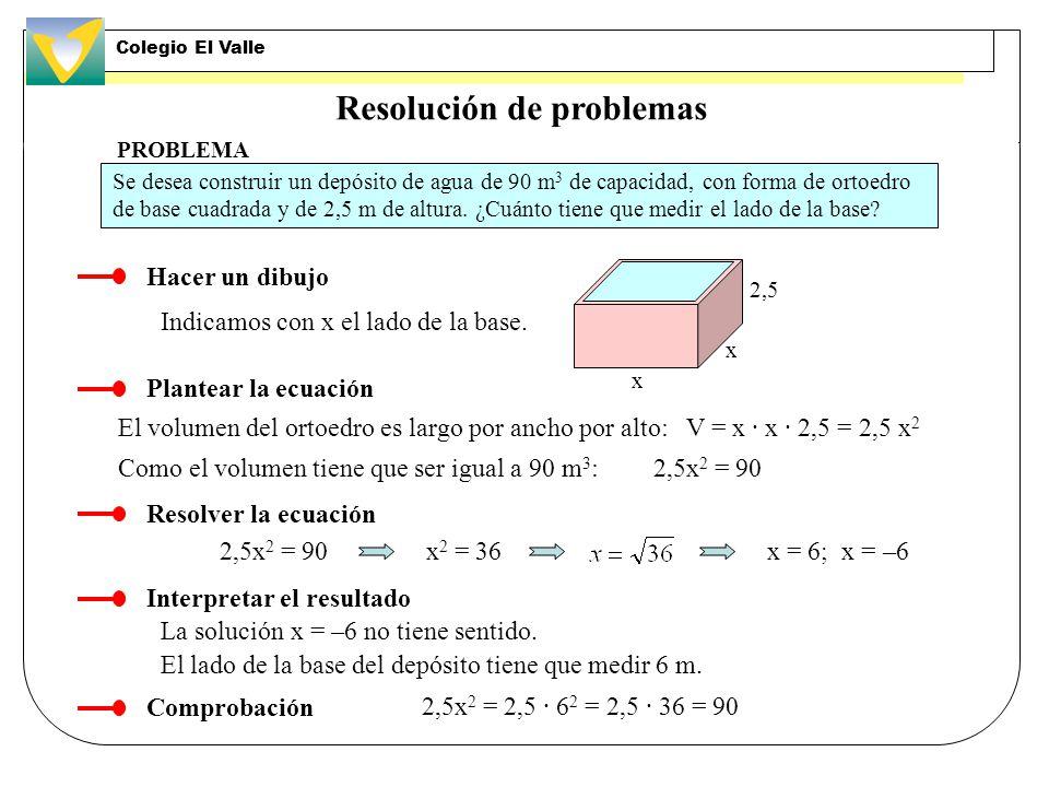 Ecuación de segundo grado completa. Ejercicio EJERCICIO RESUELTO Resolver la ecuación 4x 2 – 37x + 9 = 0 Identificamos los coeficientes: a = 4, b = –3