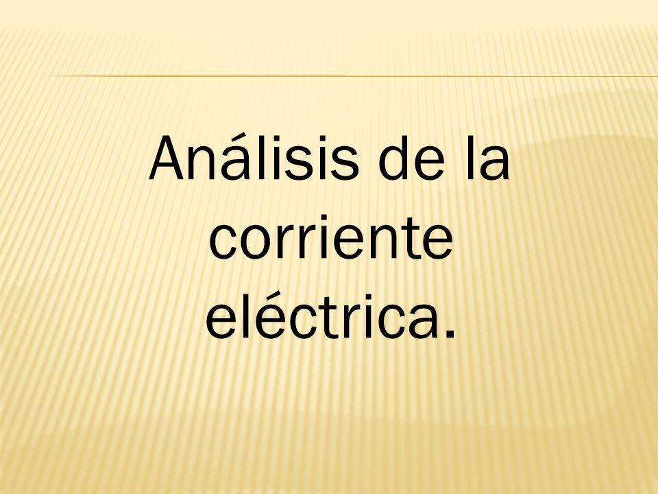 Análisis de la corriente eléctrica.