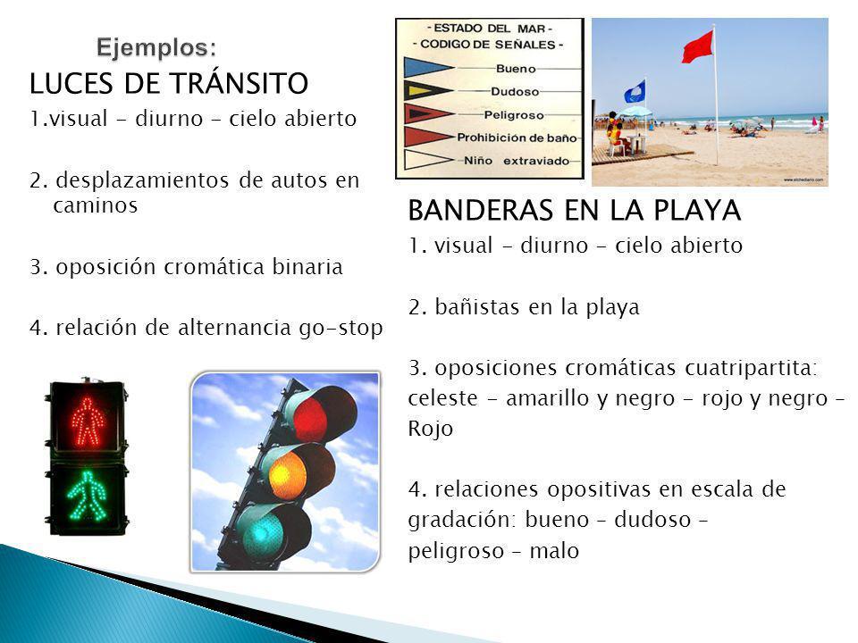 LUCES DE TRÁNSITO 1.visual - diurno - cielo abierto 2.