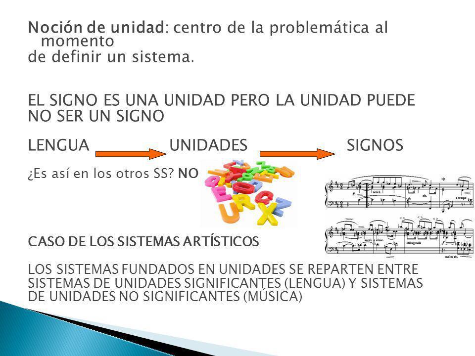 Noción de unidad: centro de la problemática al momento de definir un sistema.