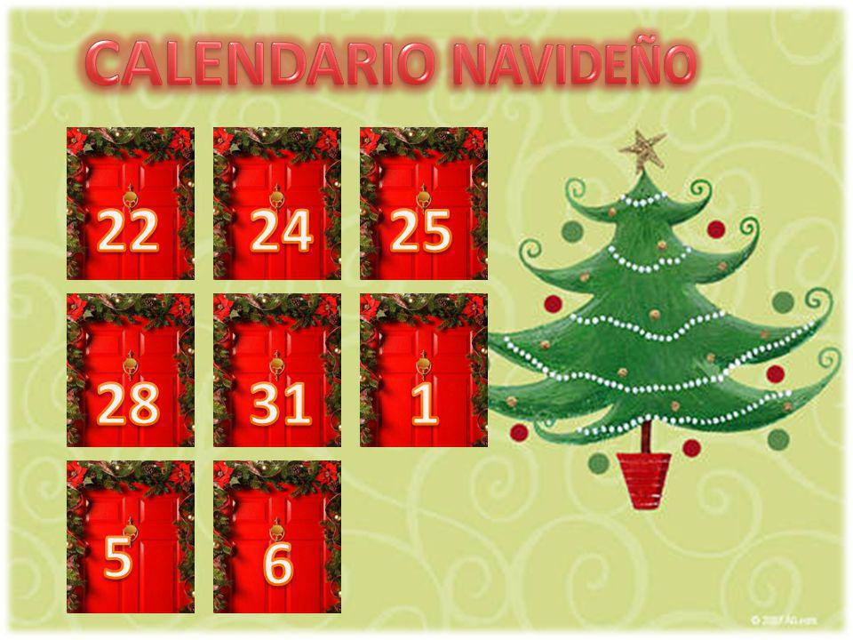 El 24 de diciembre se celebra la Nochebuena.En Nochebuena toda la familia cena junta.