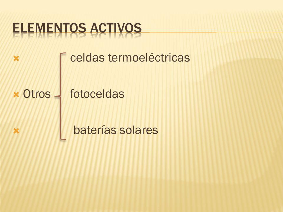 celdas termoeléctricas Otros fotoceldas baterías solares