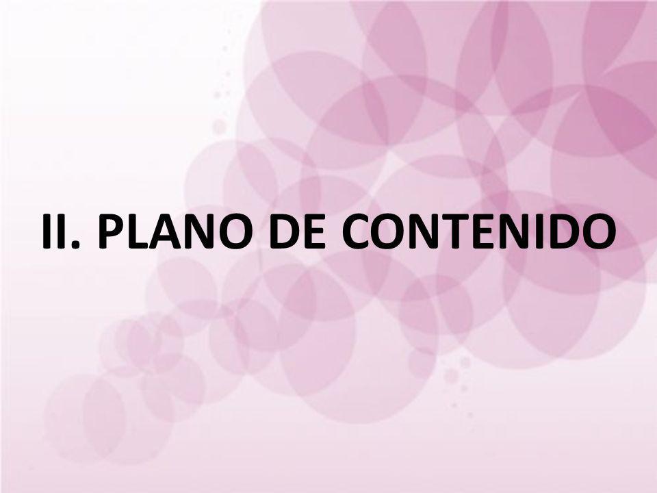 II. PLANO DE CONTENIDO