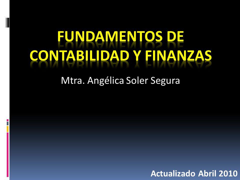 Mtra. Angélica Soler Segura Actualizado Abril 2010