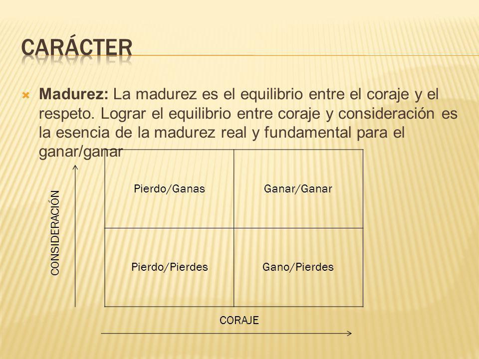Madurez: La madurez es el equilibrio entre el coraje y el respeto. Lograr el equilibrio entre coraje y consideración es la esencia de la madurez real